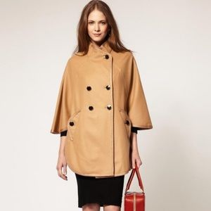 French Connection Military Camel Poncho/Cape